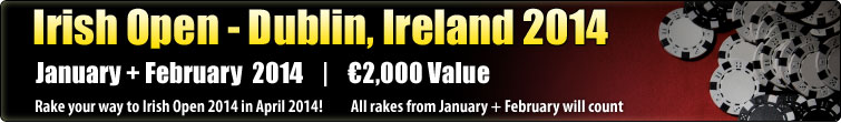 Irish Open - Dublin, Ireland 2014  (€3,000)