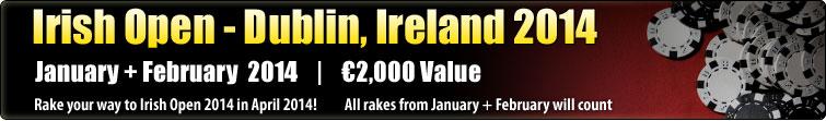 Irish Open - Dublin, Ireland 2014  (€3,000)