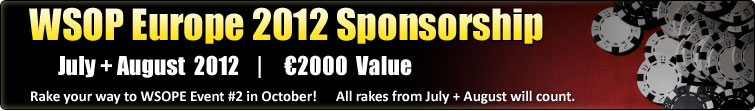 WSOP Europe 2012 - Cannes €2,000